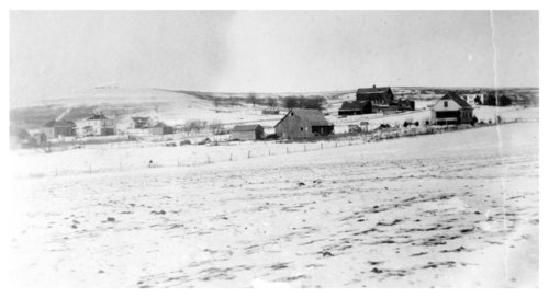 Snow covered Halfmound, Kansas - Page