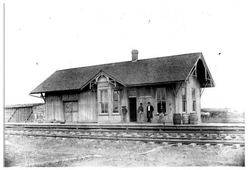 Kansas City, Wyandotte & Northwestern Railway depot, Dunvant, Kansas - Page