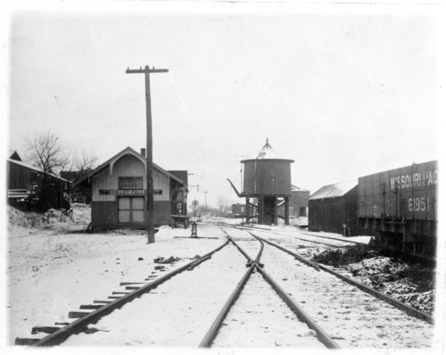 Kansas City, Northwestern Railroad depot, Valley Falls, Kansas - Page