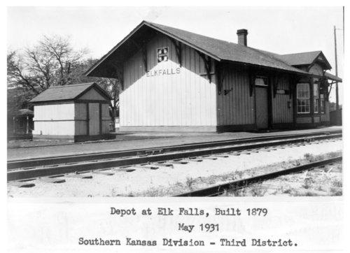 Atchison, Topeka & Santa Fe Railway Company depot, Elk Falls, Kansas - Page