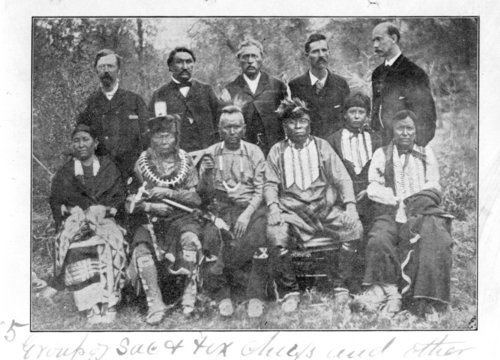 Sauk and Fox Chiefs photograph - Page