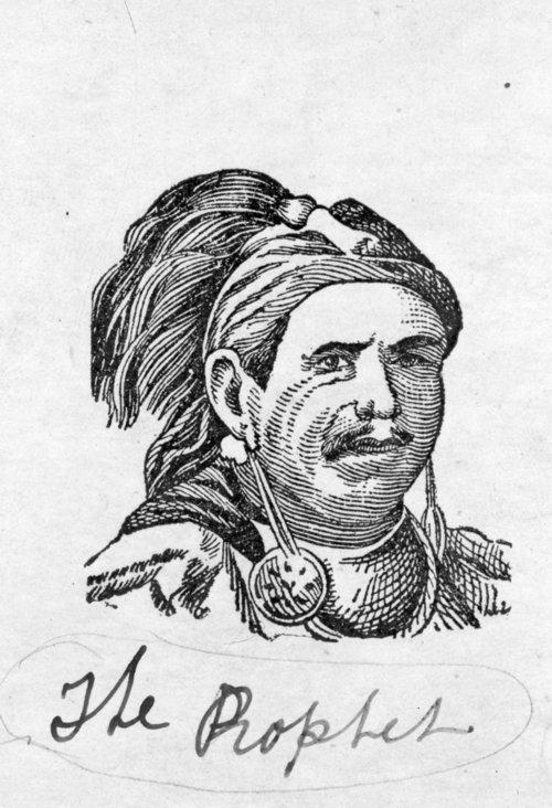 "Shawnee Chief Ten-squat-a-way ""Prophet"" photograph - Page"