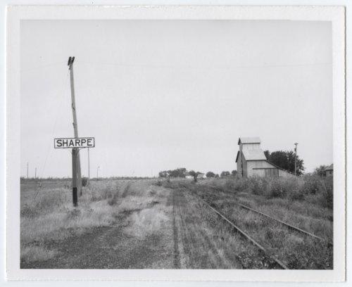 Atchison, Topeka & Santa Fe Railway Company's sign board, Sharpe, Kansas - Page