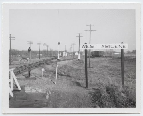 Union Pacific Railroad Company's sign board, Abilene, Kansas - Page