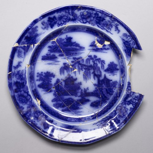 Flow Blue Plate from Quindaro - Page