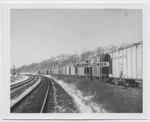 Union Pacific Railroad Company's sign board, Sunflower, Kansas - Page