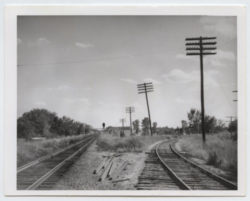 Missouri-Kansas-Texas Railroad sign board, Poole, Kansas - Page