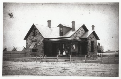 First stone house built in New Town Albuquerque, New Mexico Territory - Page