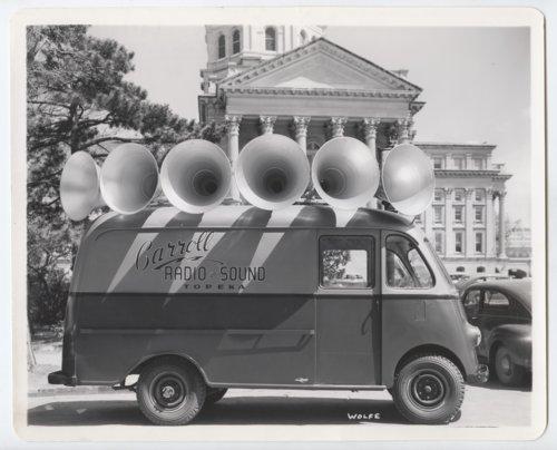 Carroll Radio and Sound truck, Topeka, Kansas - Page