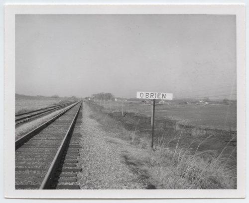 Missouri Pacific Railroad Company's sign board, O'Brien, Kansas - Page