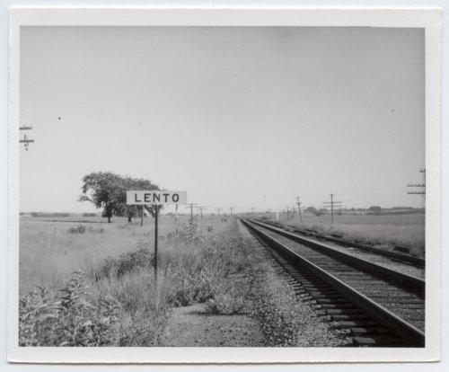 Missouri Pacific Railroad Company's sign board, Lento, Kansas - Page