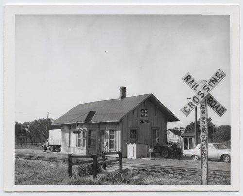 Atchison, Topeka & Santa Fe Railway Company depot, Olpe, Kansas - Page