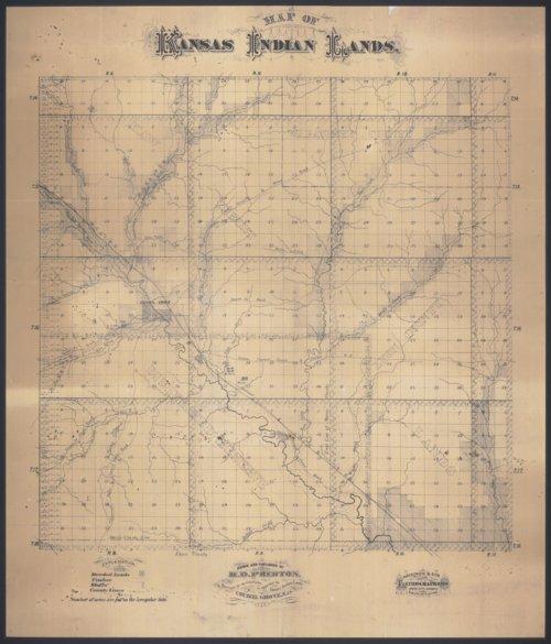 Map of Kansas Indian Lands - Page