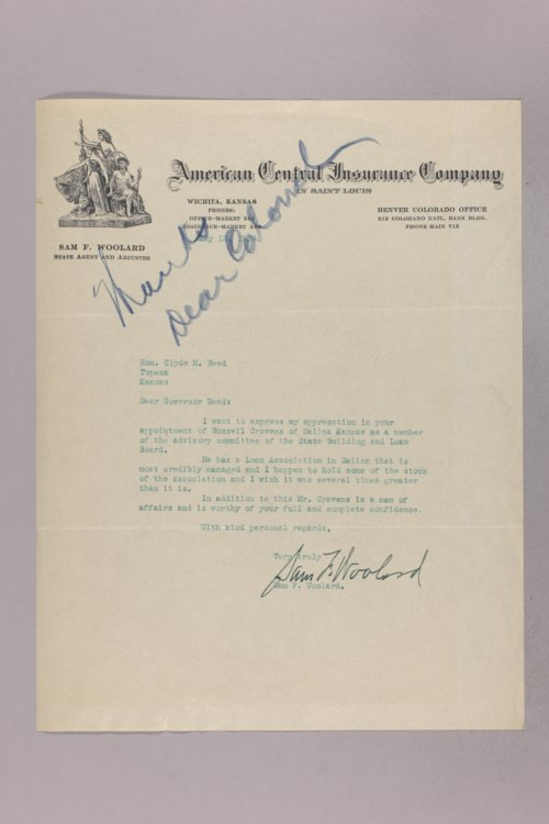 Governor Clyde M. Reed correspondence, Building and Loan Supervisory Board applications - Page