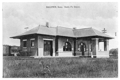 Atchison, Topeka and Santa Fe Railway Company depot, Baldwin, Kansas - Page