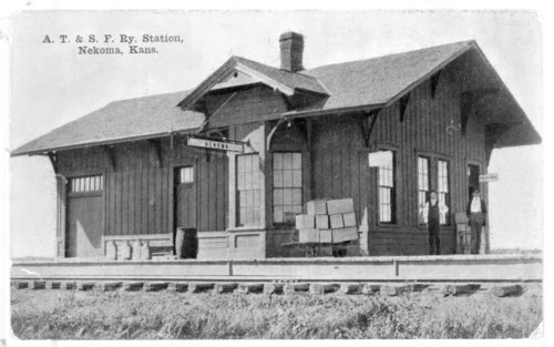 Atchison, Topeka & Santa Fe Railway Company depot, Nekoma, Kansas - Page