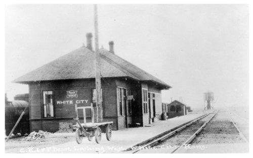 Chicago, Rock Island & Pacific Railroad depot, White City, Kansas - Page