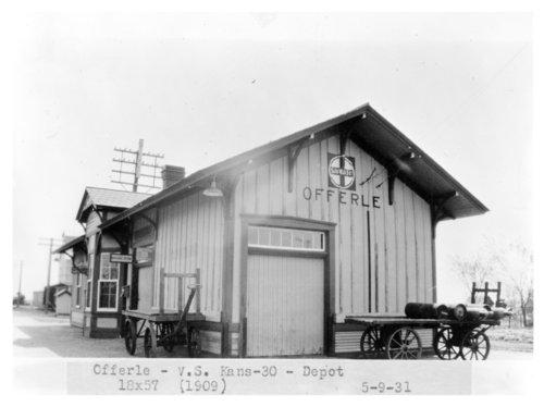 Atchison, Topeka & Santa Fe Railway Company depot, Offferle, Kansas - Page