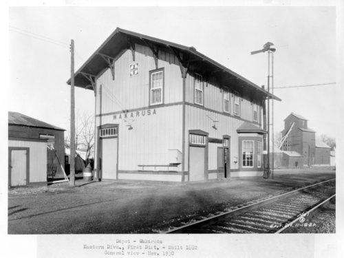 Atchison, Topeka & Santa Fe Railway Company depot, Wakarusa, Kansas - Page