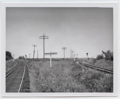 Missouri-Kansas-Texas Railroad sign board, Cross, Kanas - Page