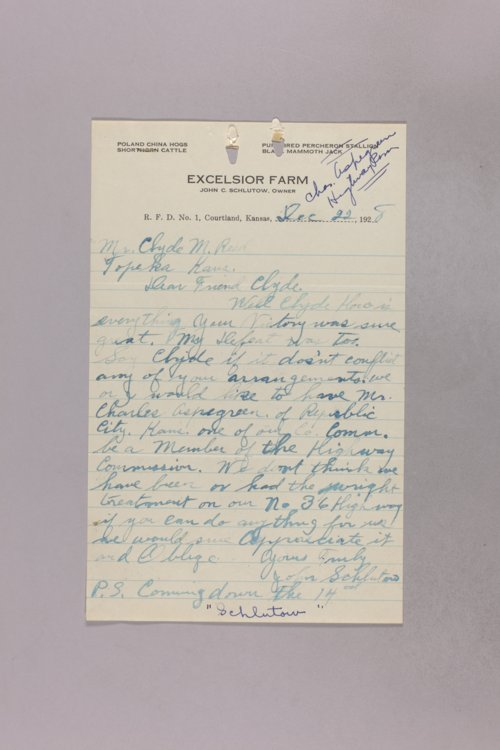 Governor Clyde M. Reed correspondence, Highway Department applications for A-B applicants - Page