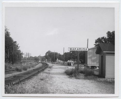 Atchison, Topeka & Santa Fe Railway Company's sign board, Wakarusa, Kansas - Page