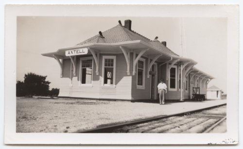 Albert Walker Irion at the Union Pacific depot, Axtell, Kansas - Page