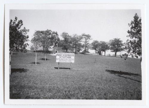 Hollenberg Ranch State Park Pony Express Station marker - Page
