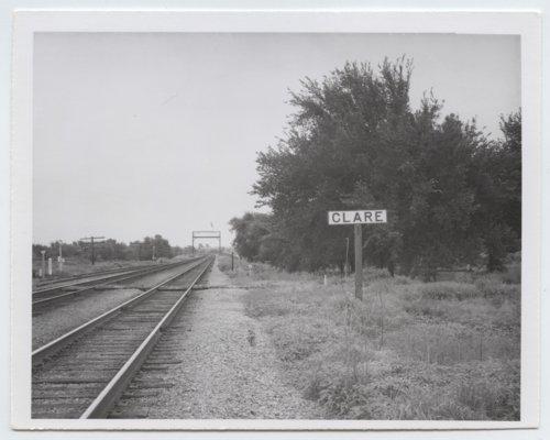 Atchison, Topeka and Santa Fe Railway Company sign board, Clare, Kansas - Page
