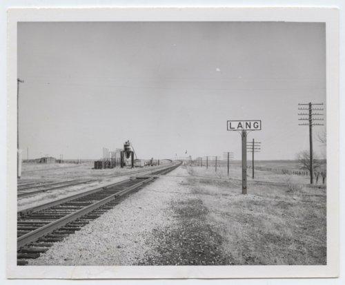 Atchison, Topeka and Santa Fe Railway Company sign board, Lang, Kansas - Page
