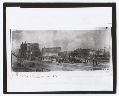 1895 fire, Hays, Kansas - Page