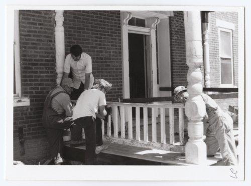 South porch rehabilitation, Grinter House, Wyandotte County, Kansas - Page