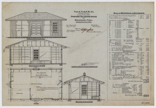 AT&SF proposed oil & store house Bagdag, California - Page