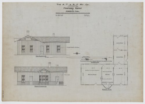 AT&SF proposed depot & freight house Amboy, California - Page