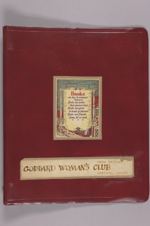 Goddard Woman's Club project book - Page