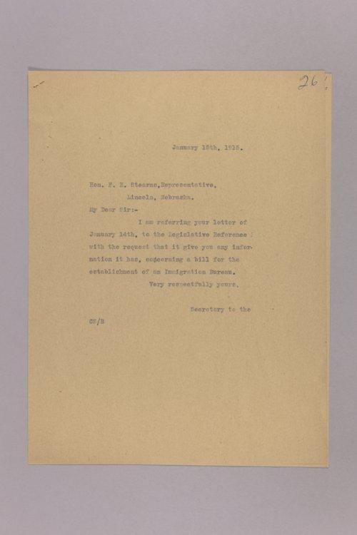 Bill for Establishment of Immigration Bureau - Page