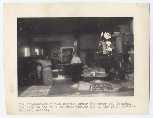 Lakin Independent newspaper office, Lakin, Kansas - Page