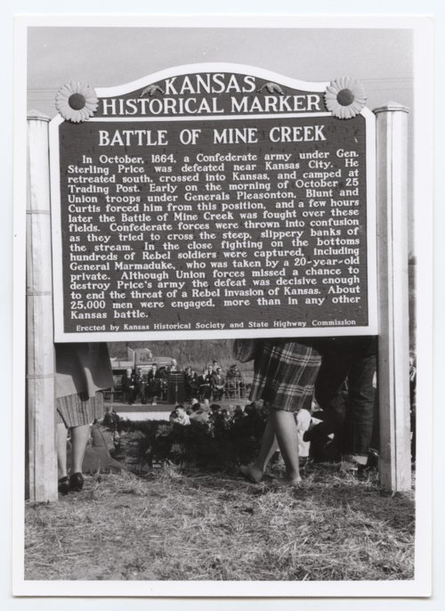 Battle of Mine Creek historical marker, Linn County, Kansas - Page