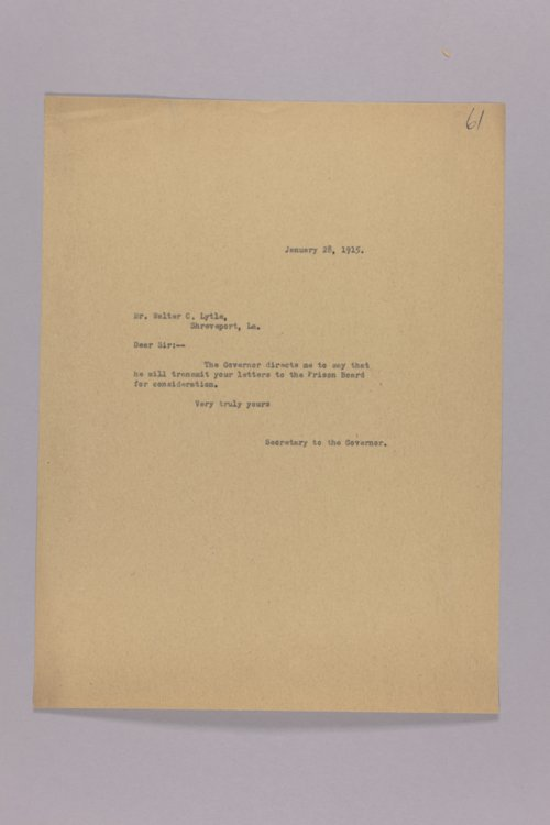 Prison Board - Transmittal of Letters - Page