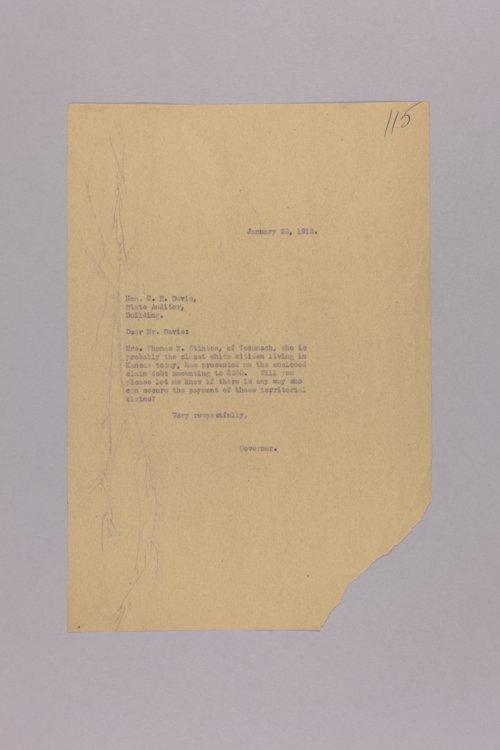 Territorial Claim - Mrs. Thomas Stinson - Page