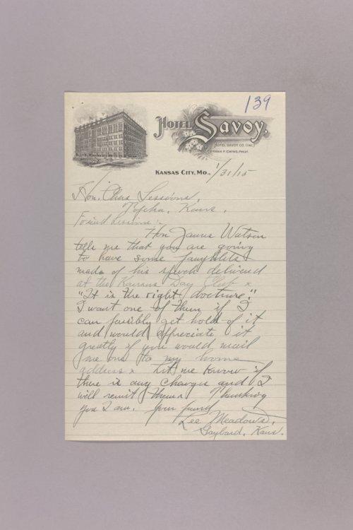Kansas Day Club Speech - James Watson - Page