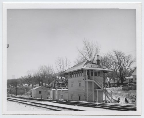 Atchison, Topeka and Santa Fe Railway Company's Argentine Yard tower, Argentine, Kansas - Page