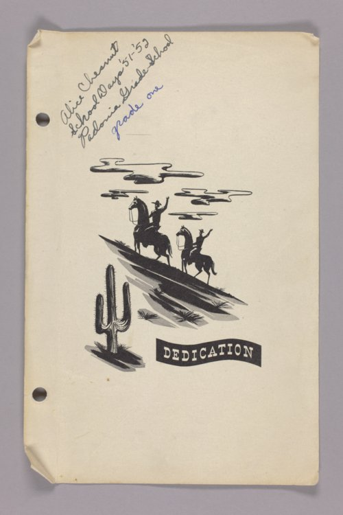 Padonia grade school book of Alice Chesnut, Padonia, Kansas - Page