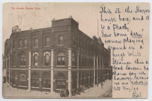 Atchison, Topeka and Santa Fe Railway Company Arcade Hotel and Fred Harvey House, Newton, Kansas - Page