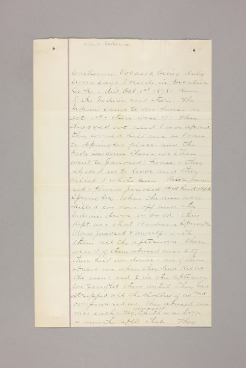 Claims, 1878 Indian Raid, Decatur County - Page
