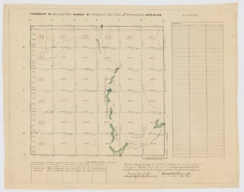 Land Survey Plats and Tract Books, Township 9 South, Range 111 West - Page