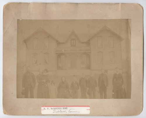 B. F. McDanield home and family, Tiblow, Kansas - Page