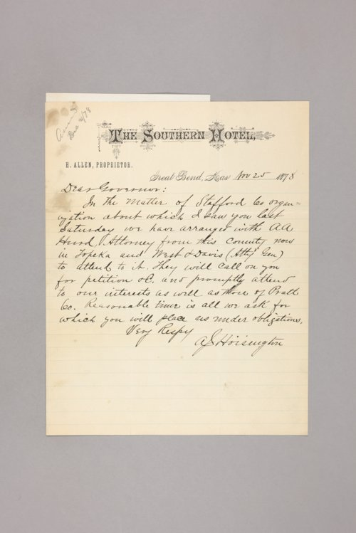 Counties, Stafford: Letters, petitions, etc., relating to organization - Page