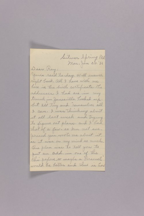 Bonner Springs adoption, correspondence - Page
