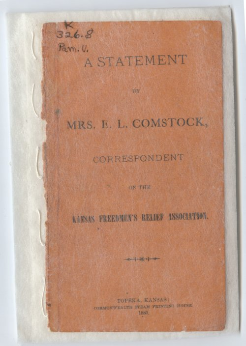 A Statement by Mrs. E.L. Comstock, Correspondent of the Kansas Freedmen's Relief Association - Page